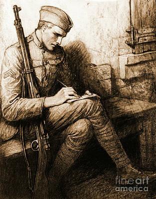 Soldier's Valentine 1918 Poster