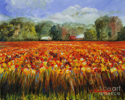 Solebury Autumn Poster by Cindy Roesinger