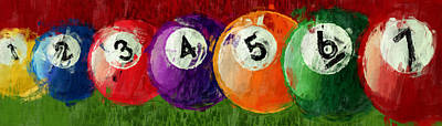 Solids Billiards Abstract Poster by David G Paul
