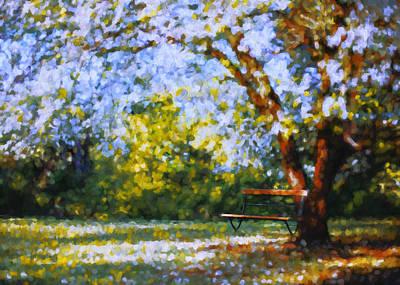 Solitude Garden Poster by Georgiana Romanovna