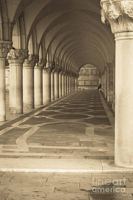 Solitude Under Palace Arches Poster
