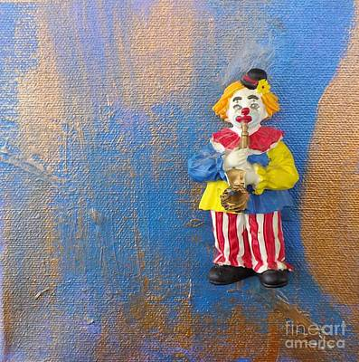 Solo Clown Musician Poster by Margaret Harmon