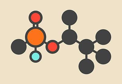 Soman Nerve Agent Molecule Poster by Molekuul