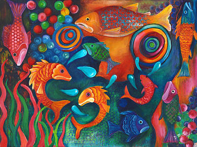 Something's Fishy Poster by Debbie McCulley