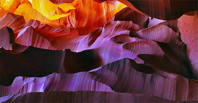 Poster featuring the photograph Somewhere In America Series - Transition Of The Colors In Antelope Canyon by Lilia D