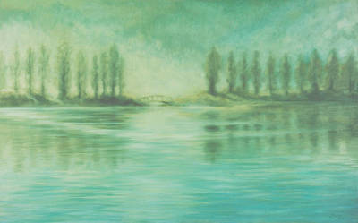 Poster featuring the painting Song For Monet by Laurie Stewart