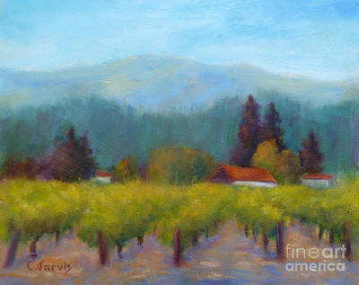 Sonoma Valley View Poster by Carolyn Jarvis