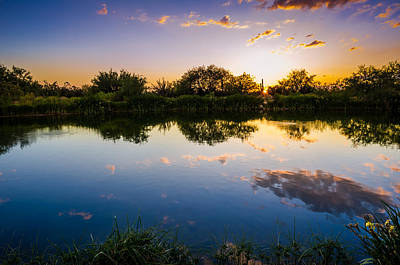 Sonoran Desert Sunset Reflection Poster