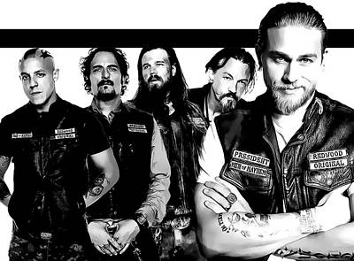 Sons Of Anarchy Poster by Anibal Diaz