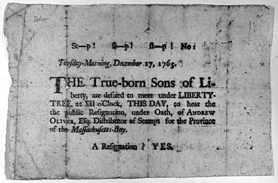 Sons Of Liberty Broadside Poster by Granger