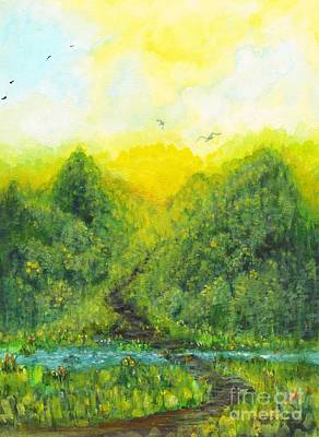 Poster featuring the painting Sonsoshone by Holly Carmichael