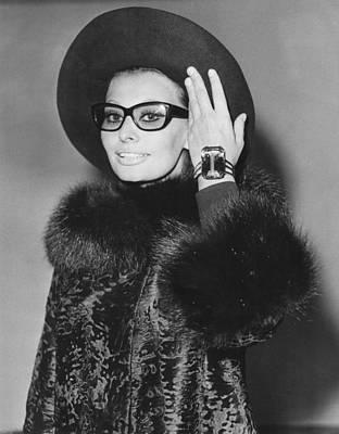 Sophia Loren Arriving In London Poster
