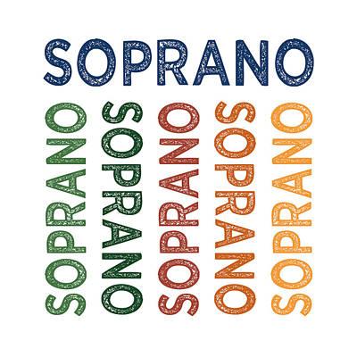 Soprano Cute Colorful Poster
