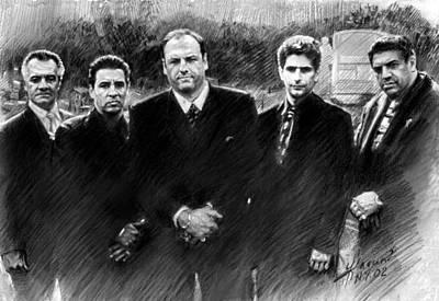 Sopranos James Gandolfini Poster by Viola El