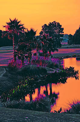 Sorbet Sunset Poster by DigiArt Diaries by Vicky B Fuller