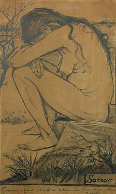 Sorrow, 1882 Pencil, Pen And Ink Poster