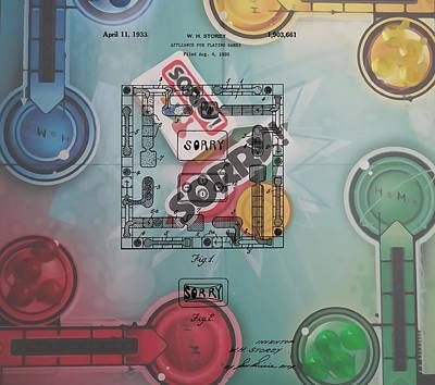 Sorry Game Patent Poster