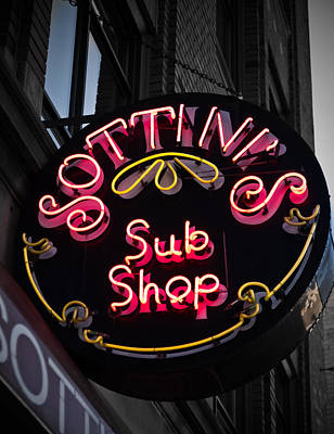Poster featuring the photograph Sottini's Sub Shop by James Howe