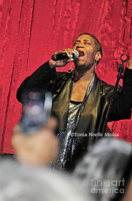 Poster featuring the photograph Soul Diva Sings Again by Tonia Noelle
