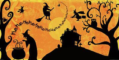 Sounds Like Halloween IIi Poster by Belinda Aldrich