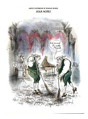 Sour Notes 'yeah Poster by Ronald Searle