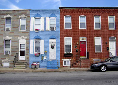 Poster featuring the photograph South Baltimore Row Homes by Brian Wallace