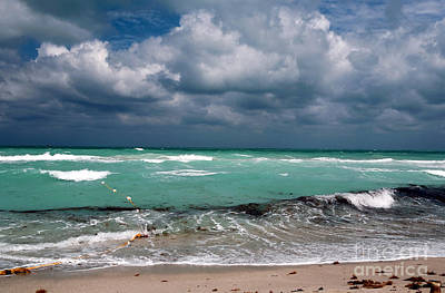 South Beach Storm Clouds Poster by John Rizzuto