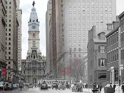 South Broad From Locust Street Poster