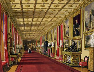 South Corridor, Windsor Castle, 1838 Poster by James Baker Pyne