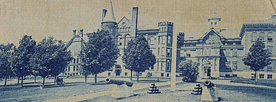 South Hall, Administration Building And North Hall Poster by Artokoloro