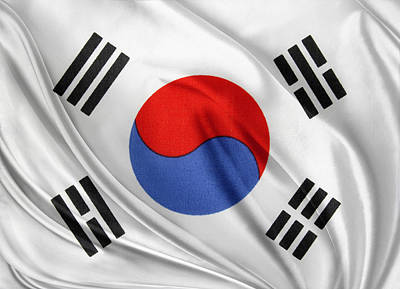South Korean Flag Poster by Les Cunliffe