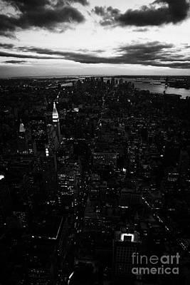 South Manhattan Skyline Night Evening New York City Poster by Joe Fox