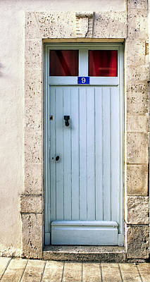 South Of France Pale Blue Door Poster
