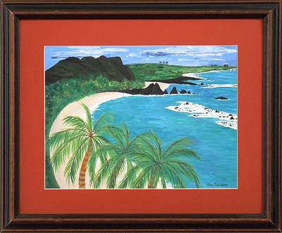Poster featuring the painting South Pacific by Ron Davidson