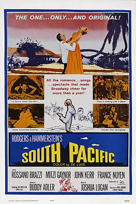 South Pacific, Us Poster, Top From Left Poster by Everett