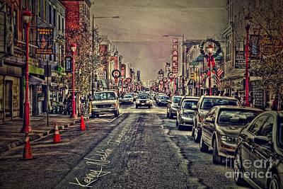 South St. Philadelphia  Poster by Kenny  Noddin