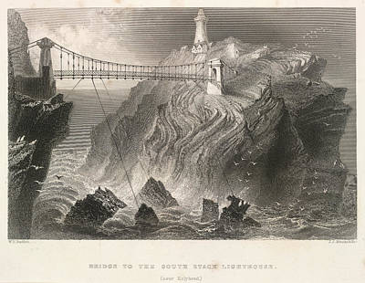 South Stack Lighthouse Poster by British Library