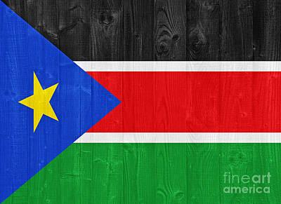 South Sudan Flag Poster by Luis Alvarenga