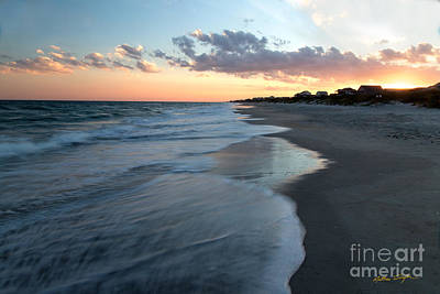 South Topsail Beach Sunset 2014 Poster
