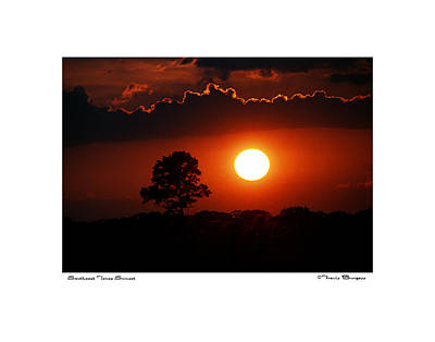 Southeast Texas Sunset Poster by Travis Burgess