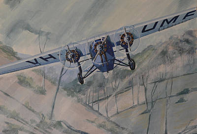 Poster featuring the painting Southern Cloud Vh-umf by Murray McLeod