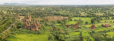 Southern View Of Stupas Seen From Top Poster by Panoramic Images