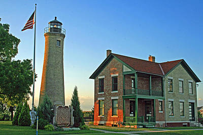 Poster featuring the photograph Southport Lighthouse On Simmons Island by Kay Novy