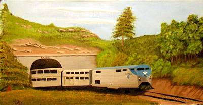 Poster featuring the painting Southwest Chief At Raton Pass by Sheri Keith