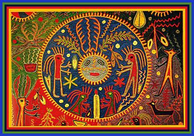 Southwest Huichol Del Sol Poster by Vagabond Folk Art - Virginia Vivier