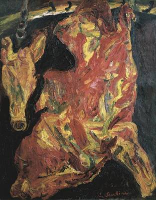 Soutine, Chaim 1894-1943. Ox And Calfs Poster by Everett