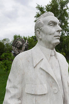Soviet-era Sculpture Of Alexei Kosygin Poster by Panoramic Images