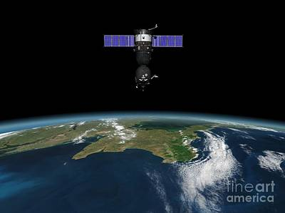 Soyuz Spacecraft In Earth Orbit, Artwork Poster