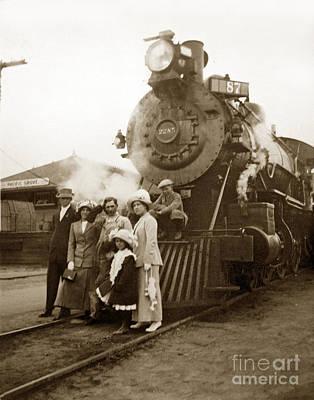 S P Baldwin Locomotive 2285  Class T-26 Ten Wheel Steam Locomotive At Pacific Grove California 1910 Poster