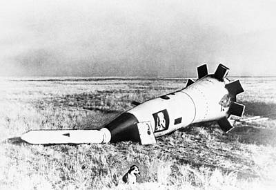 Space Capsule After Landing With Dog Poster by Science Photo Library